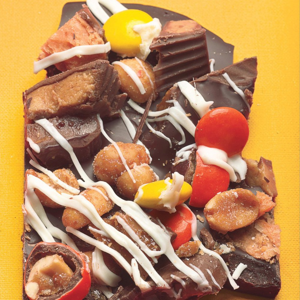 Halloween Peanut Butter and Toffee Candy Bar