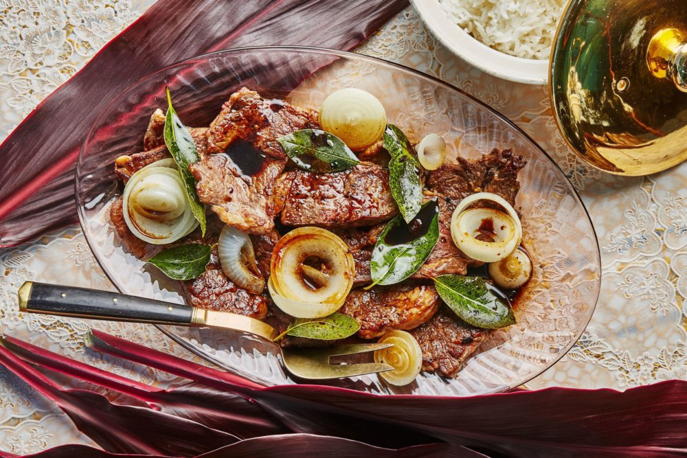 Filipino-Style Beef Steak with Onion and Bay Leaves (Bistek)