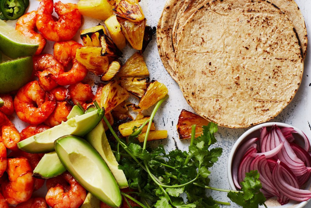 Shrimp Tacos with Pineapple