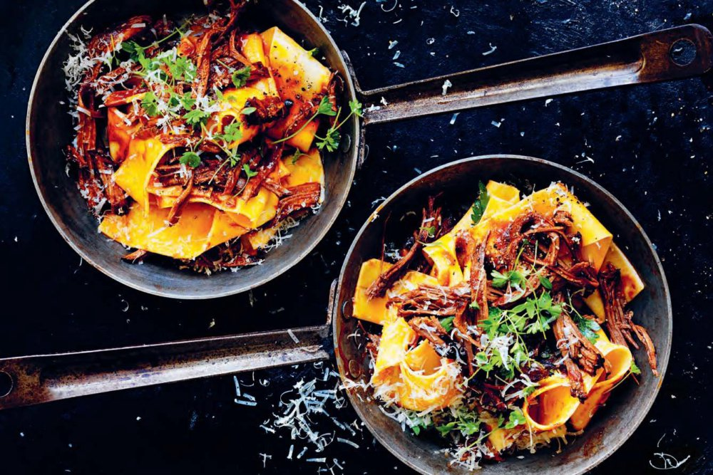Pappardelle with Slow-Cooked Brisket