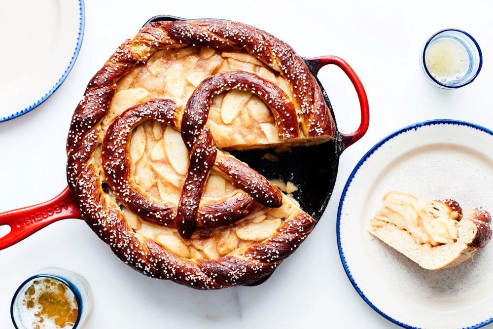 Salted Apple Pretzel Pie