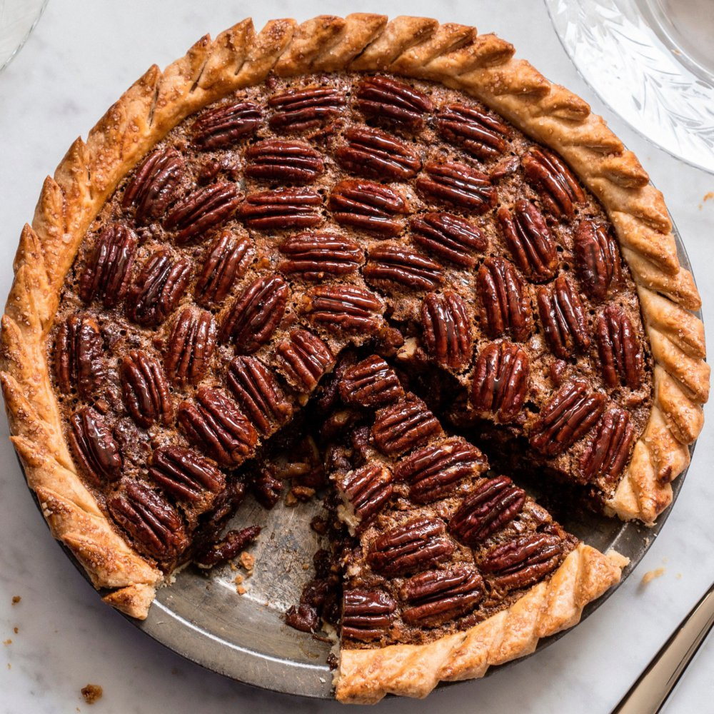 Brown-Butter Pecan Pie with Rum and Espresso