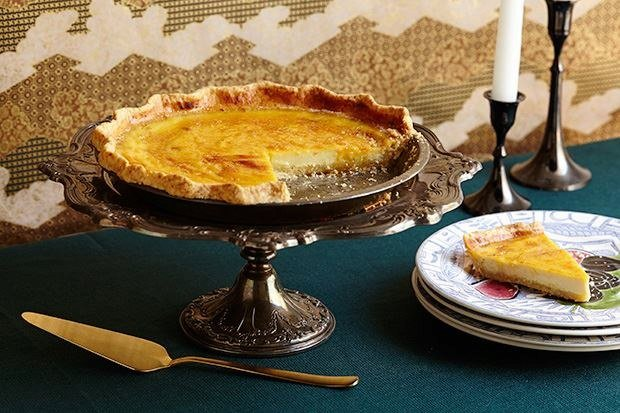 Spiced Custard Pie with Sesame Crust