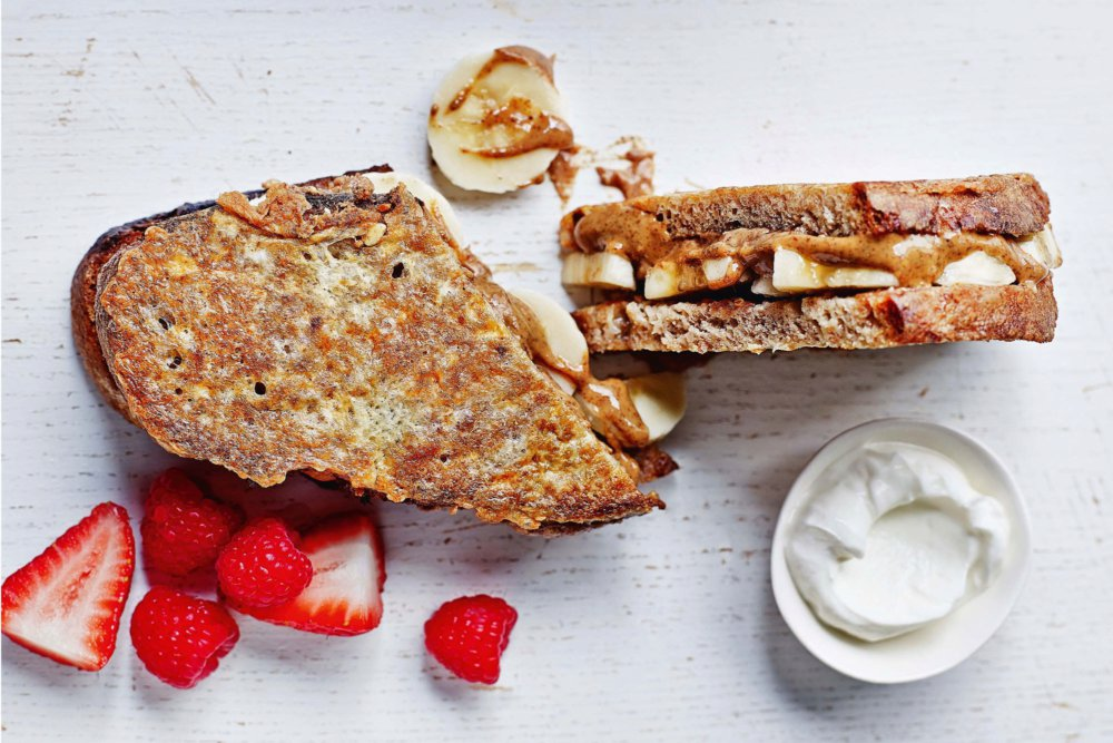 Stuffed French Toast With Almond Butter and Banana