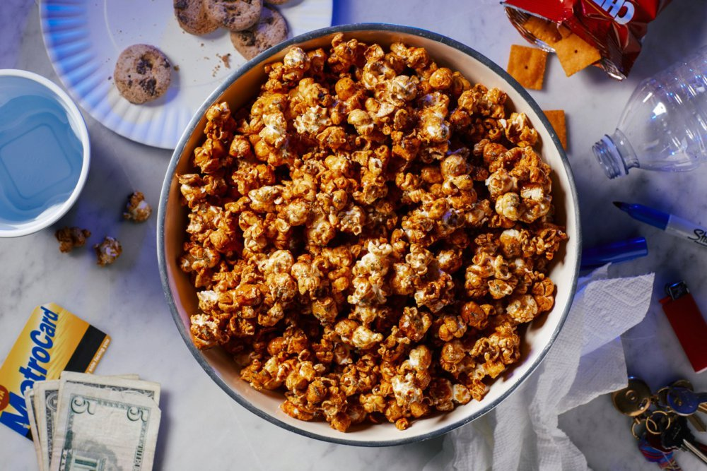 High Honey-Sriracha Popcorn