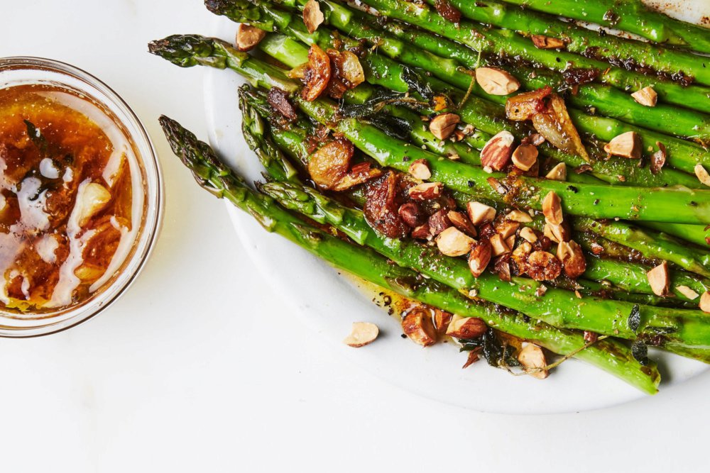 Charred Asparagus with Citrus Bagna Cauda