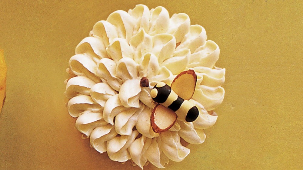 Flower-and-Bee Cupcakes