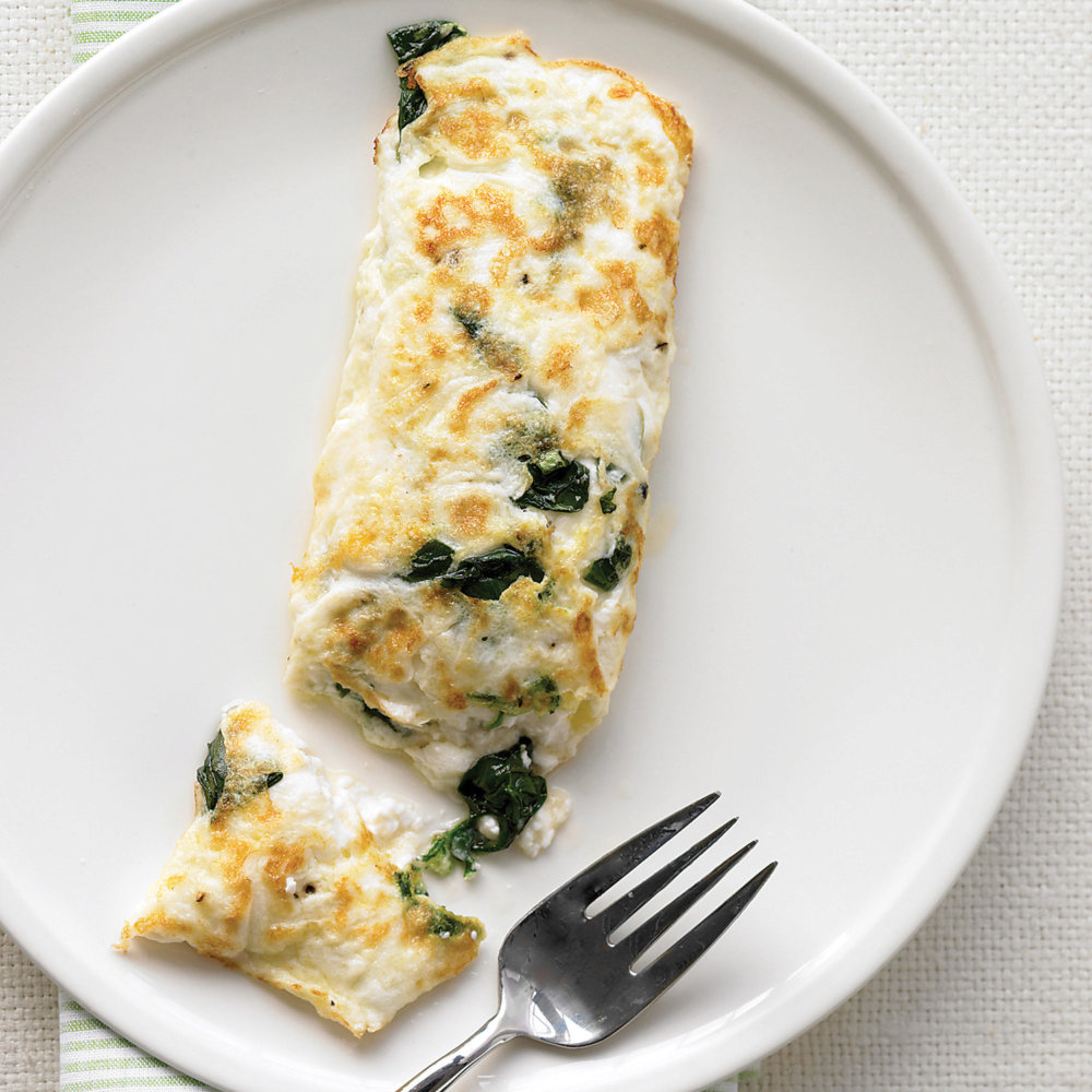 Egg-White Omelet with Spinach and Cottage Cheese