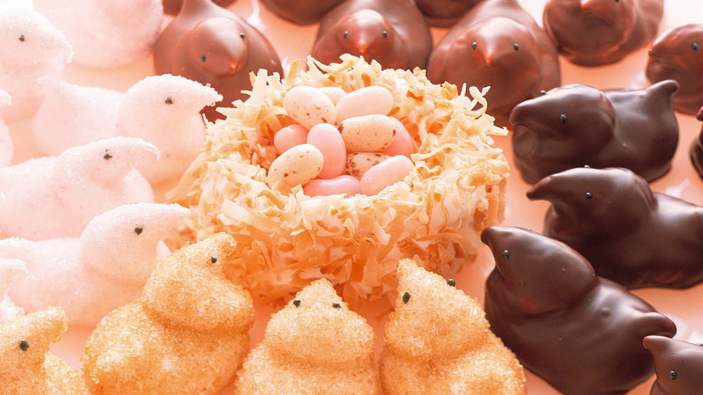 Chocolate-Coated Marshmallow Chicks