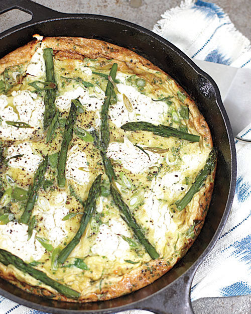 Frittata with Asparagus, Goat Cheese, and Herbs