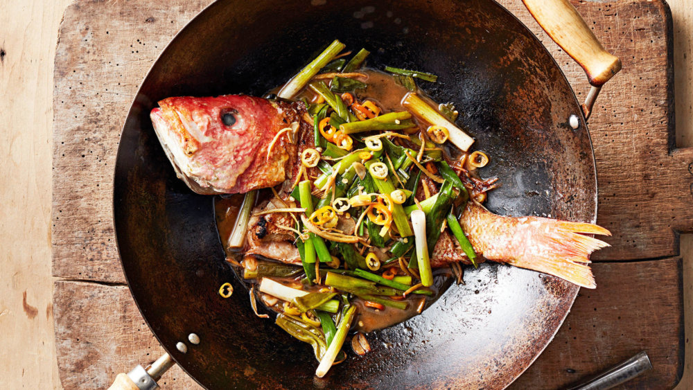 Quick-Braised Red Snapper
