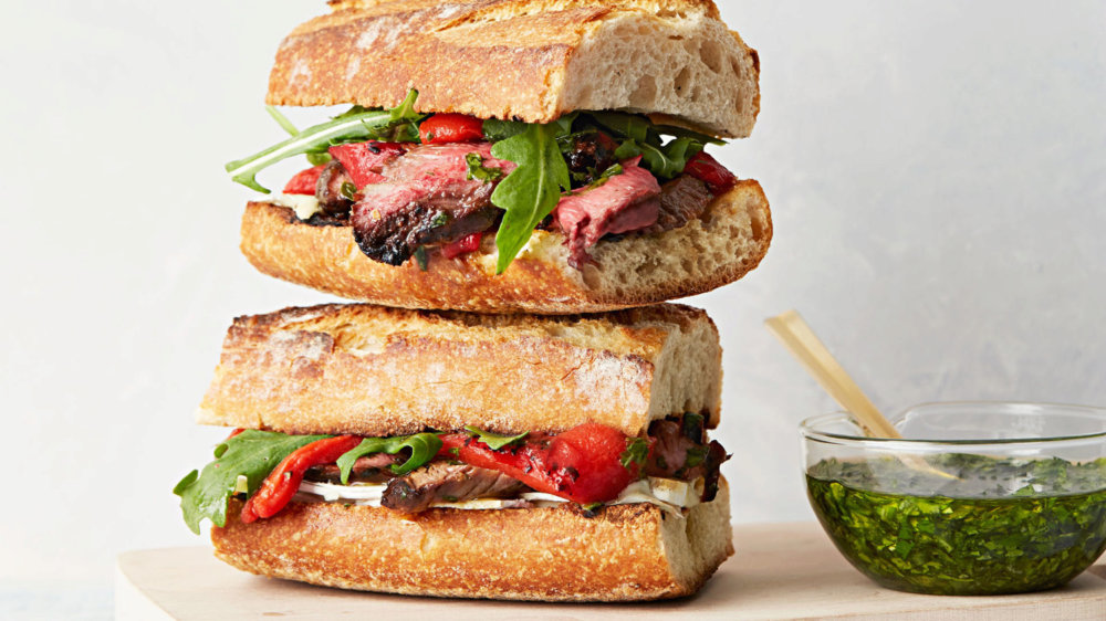 Steak-and-Brie Sandwich with Chimichurri