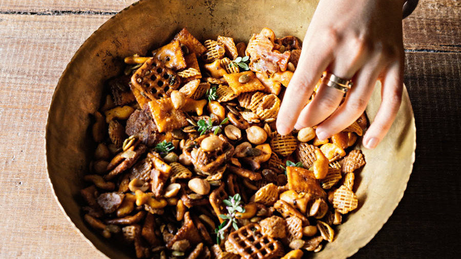 Spicy-Sweet Maple Snack Mix