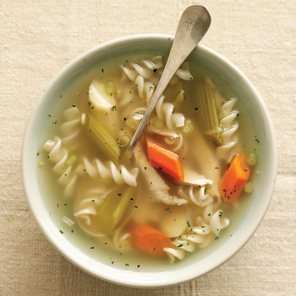 Chicken Soup with Brown Rice-Millet Noodles