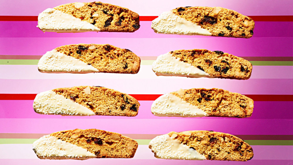 Cornmeal, Cherry, and White-Chocolate-Chunk Biscotti