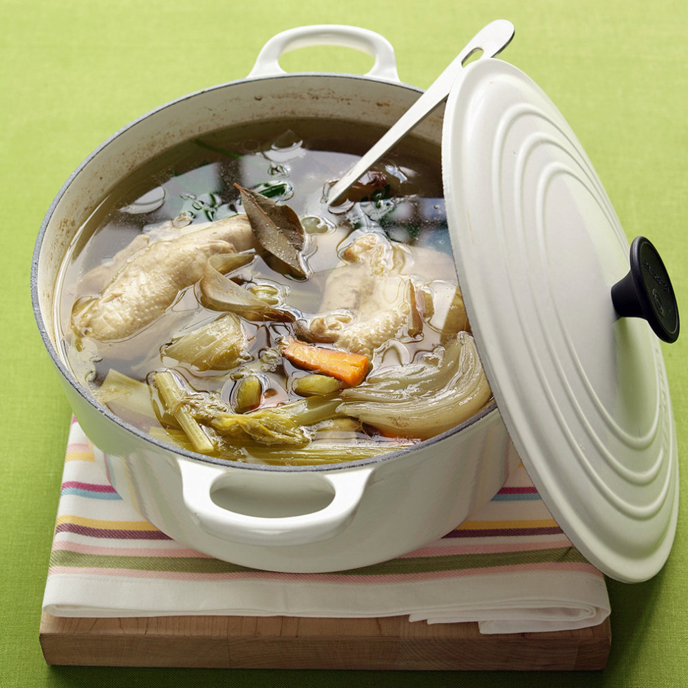 Poached Chicken Breasts and Chicken Broth