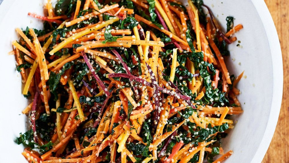 Julienned-Carrot and Kale Salad
