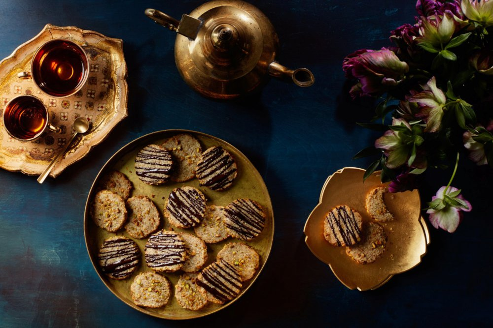 Flourless Almond Cookies with Cardamom, Orange Zest, and Pistachios