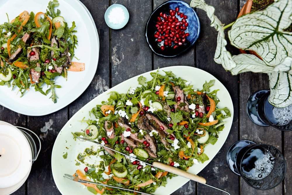 Moroccan Skirt Steak Salad With Chermoula