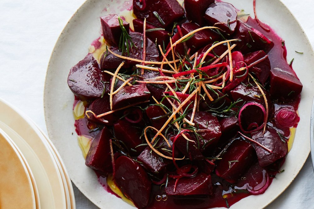 Roasted Beets with Grapefruit and Rosemary