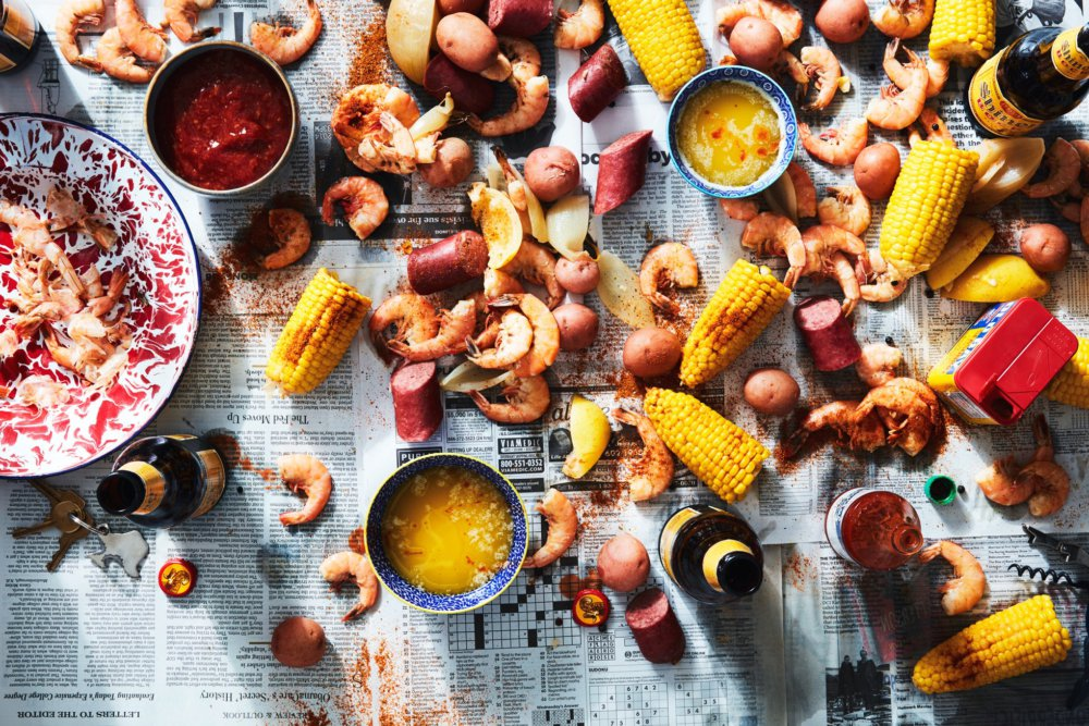 Low-Country Boil with Shrimp, Corn, and Sausage