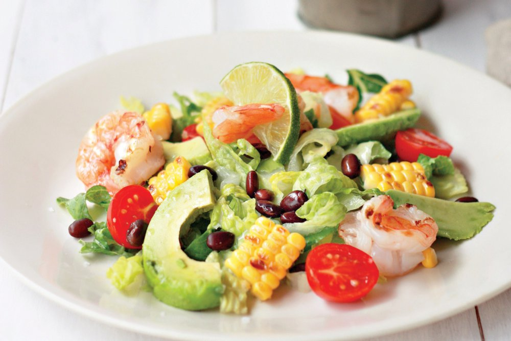 Grilled Shrimp and Corn Salad