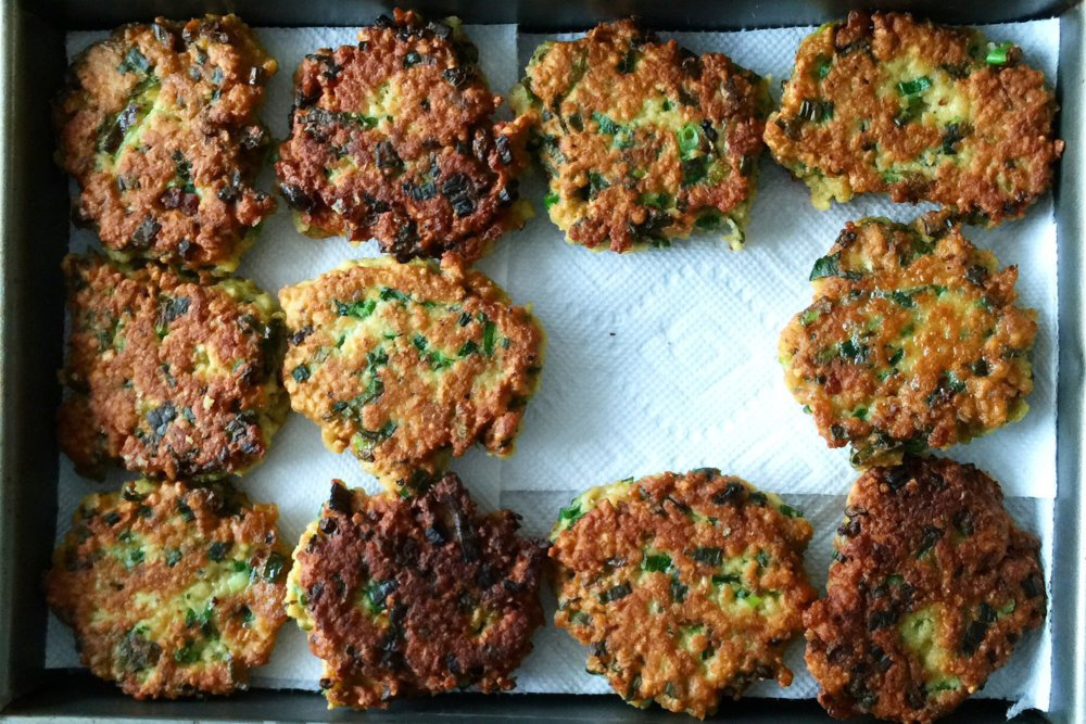 Matzo Scallion Pancakes