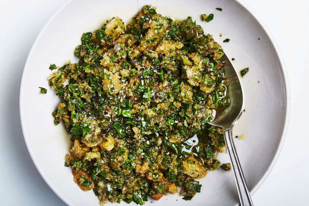 Salsa Verde With Toasted Breadcrumbs