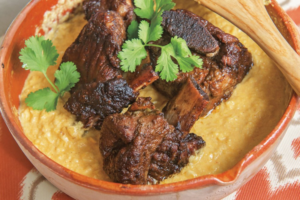 Pressure-Cooker Spicy Ancho Chile and Cilantro Short Ribs