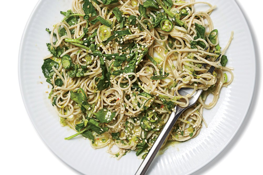 Soba With Green Chile Pesto