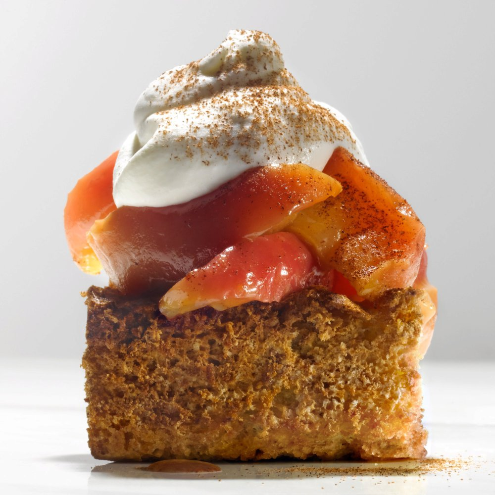 Oat Shortcakes with Sautéed Apples, Cinnamon, and Whipped Cream