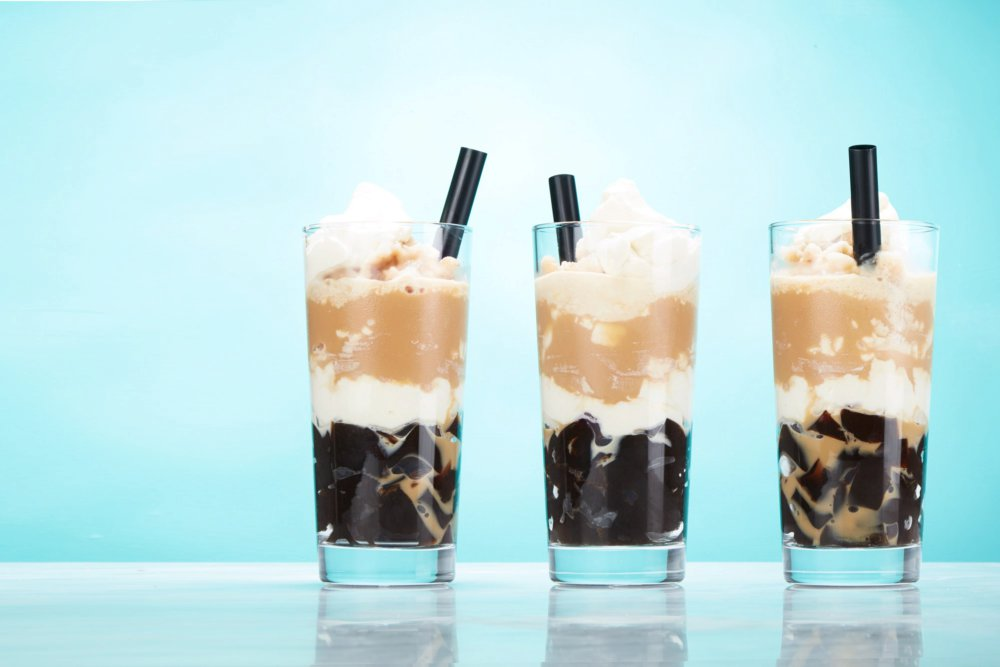 Frozen Iced Coffee With Coffee Jelly