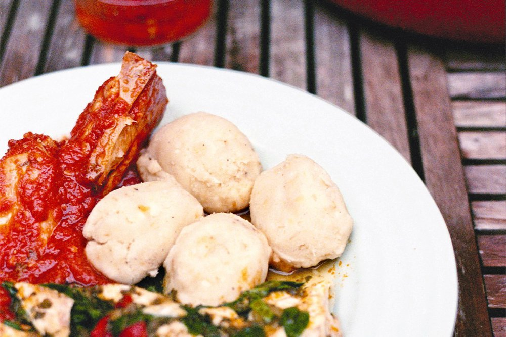 Yam and Plantain Scoop