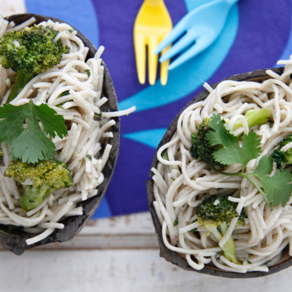 Coconut Soba Noodles with Ginger Broccoli