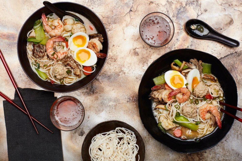 Sumo Stew (Chanko Nabe) With Shrimp, Meatballs, and Bok Choy