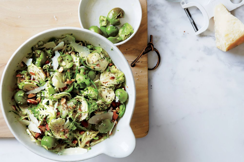 Broccoli and Brussels Sprouts Slaw