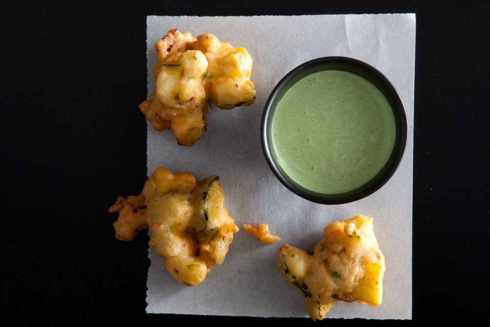 Zucchini Bacon Fritters With Basil-Mayo Dipping Sauce