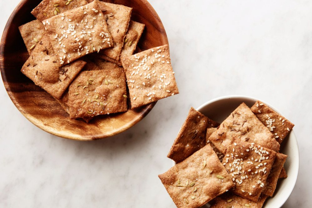 3-Ingredient Seeded Crackers