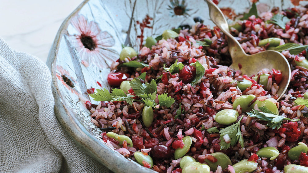 Wild-Rice and Lima-Bean Salad with Cranberry Relish