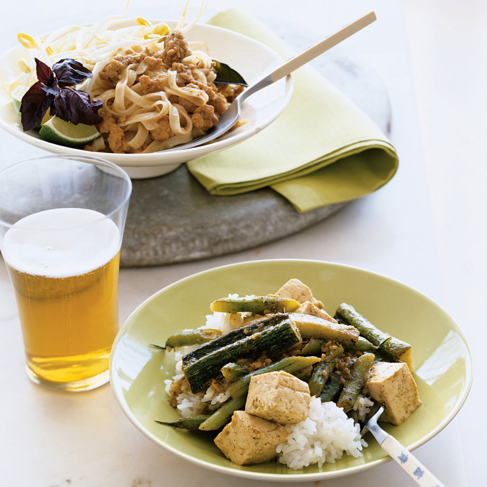 Thai Green Curry with Tofu and Vegetables