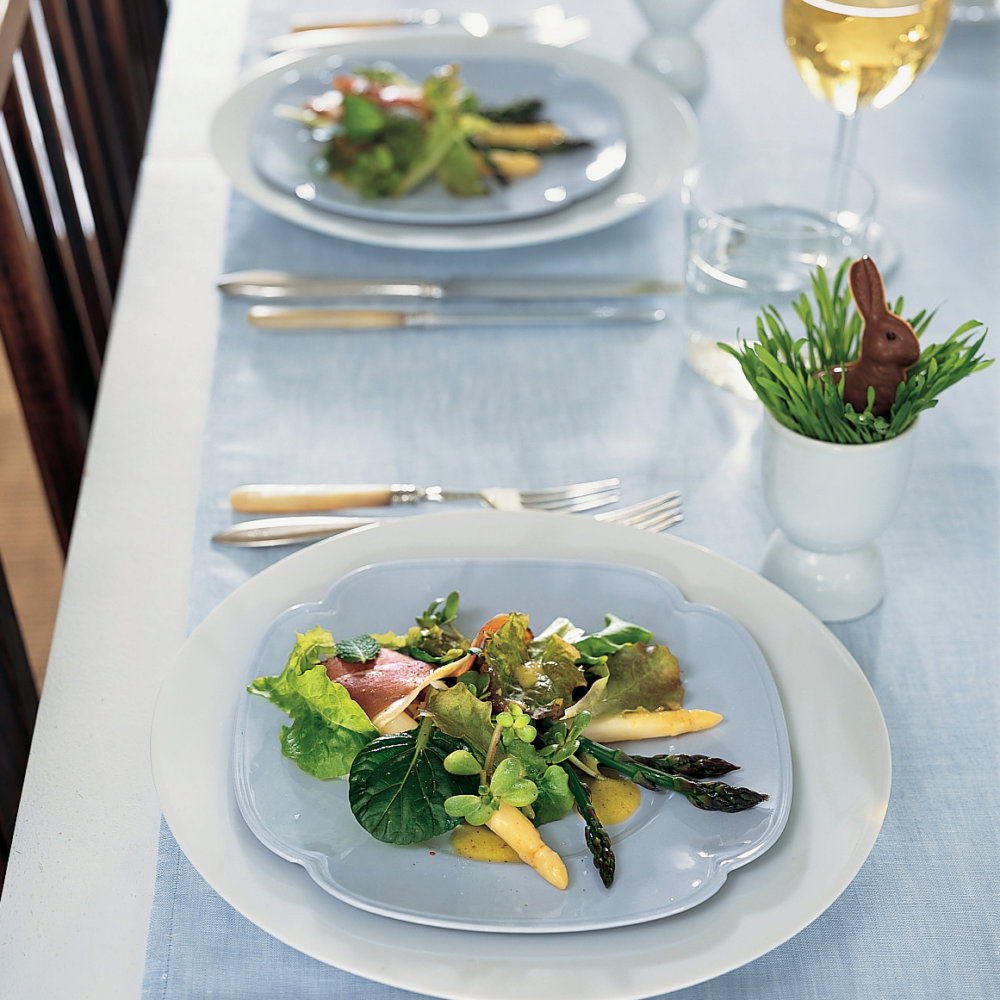 Asparagus Salad with Tender Greens and Mint