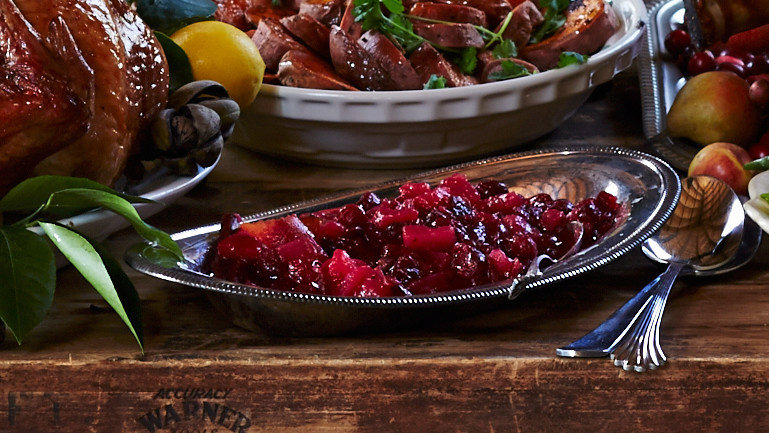Spiced Pear-and-Cranberry Chutney