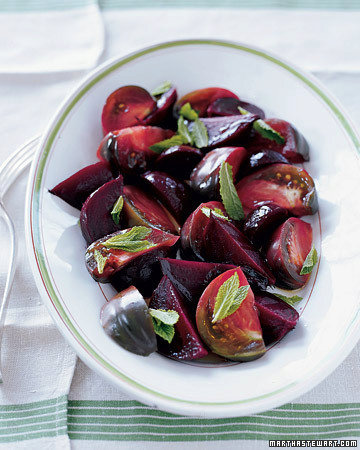 Beet and Tomato Salad with Mint