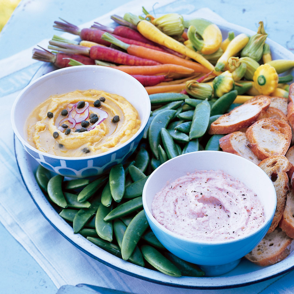Yellow Split-Pea Spread with Spring Crudites