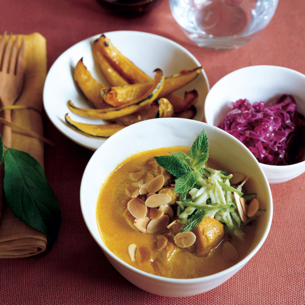 Curried Chicken with Toasted Almonds