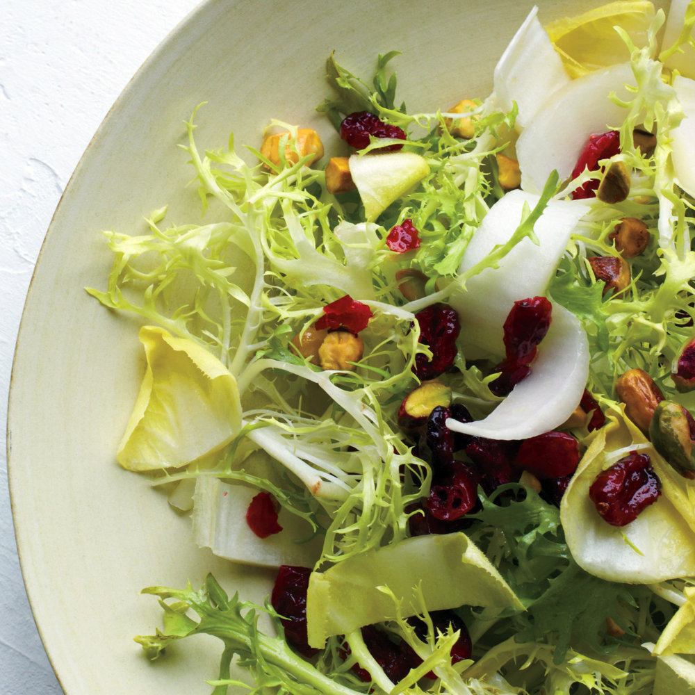 Frisee Salad With Cranberries And Pistachios