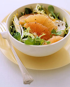 Mixed Lettuces with Grapefruit, Goat Cheese, and Black Pepper