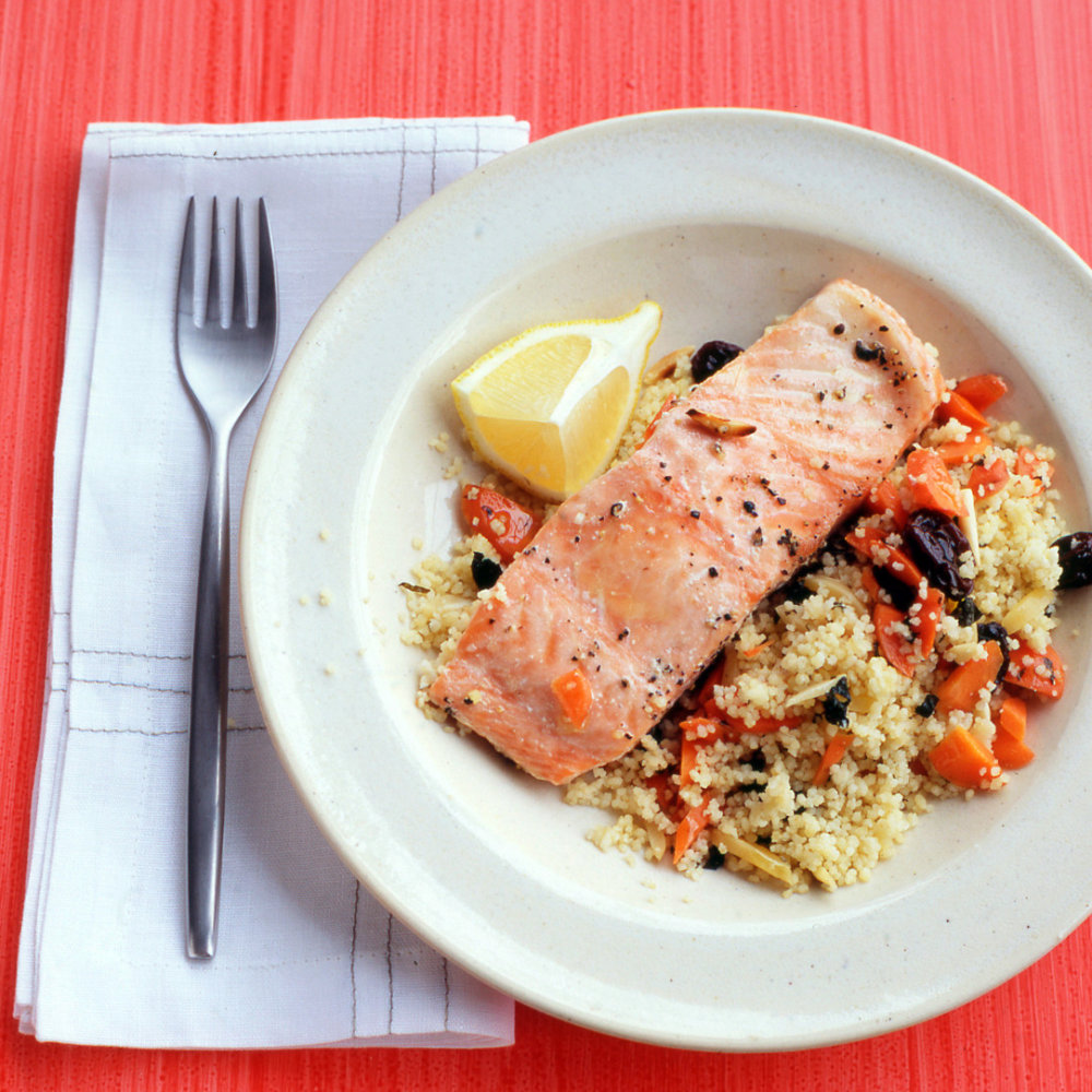Salmon with Couscous Pilaf