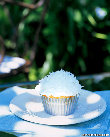 Coconut-Topped Cupcakes