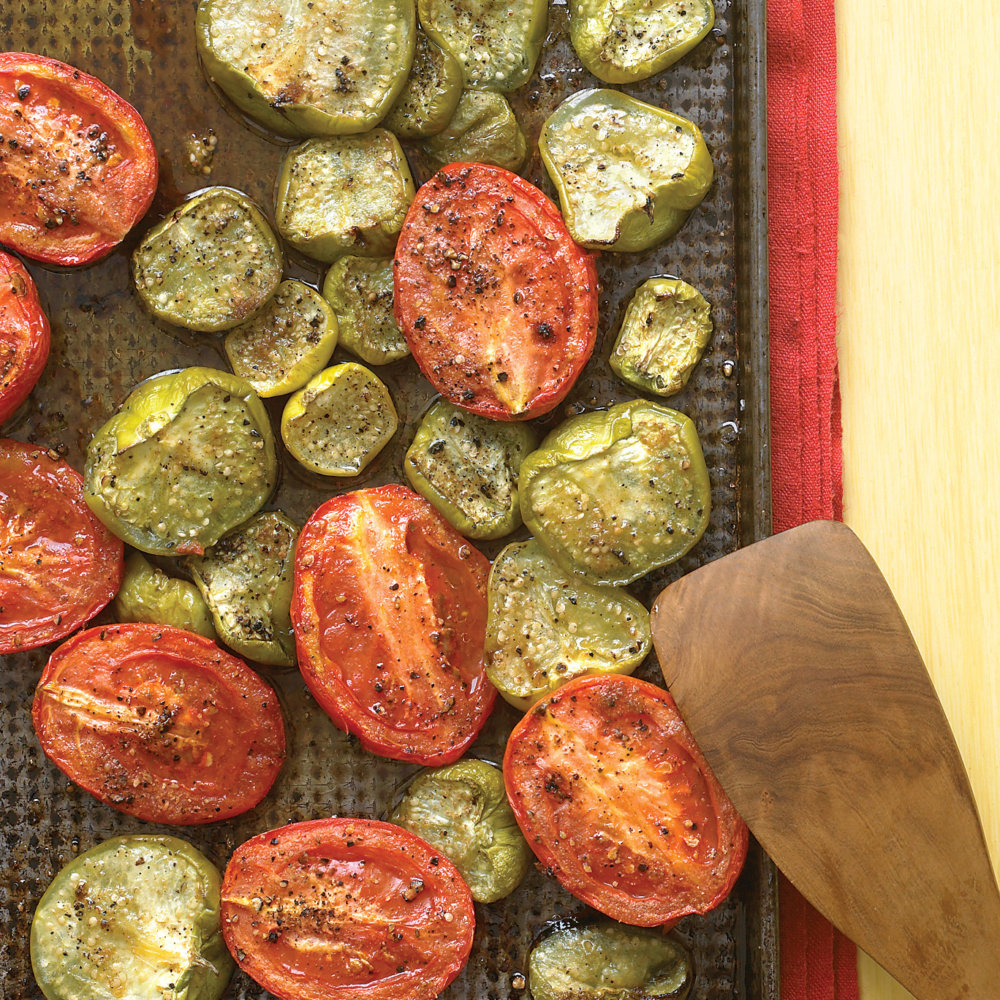 Slow-Roasted Tomatillos and Tomatoes